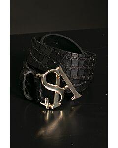 Studio Anneloes SA gold kroko leather belt 05208