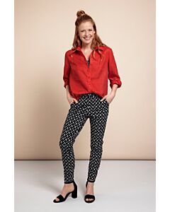 Studio Anneloes  Upstairs zigzag trousers 05750