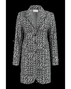 Helena Hart blazer stripes zigzag tuxy 7246