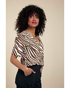 Studio Anneloes Sophia SSL tiger shirt 06015