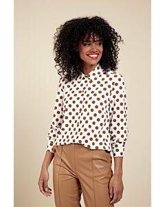 Studio Anneloes Jet big dot blouse 06048