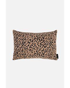 Rino Pelle Leopard checked tannin Lavoya knitted kussen
