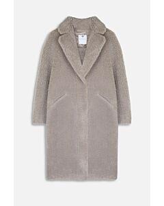 Rino Pelle  Long Bonded Faux Shearling Coat