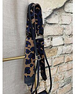 X  Tassen strap panter blauw