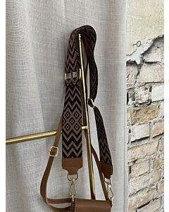 X  Tassen strap zigzag camel