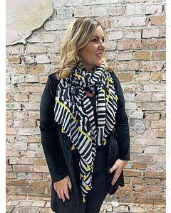 Sun  Sjaal zebra geel