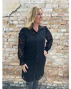 Iz Naiz doorknoop blouse 3320