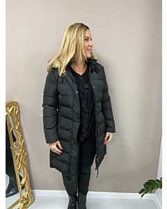 Rino Pelle  Padded coat with faux fur