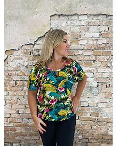 Iz Naiz  3752 shirt open V tropical