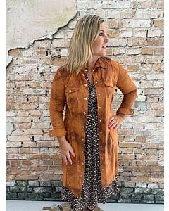 Cdlc  Dress buttons caramel vintage leather