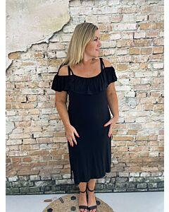Cdlc  Dress ruches black leah
