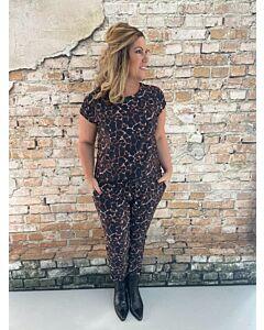 Ely donkerbruin travel shirt giraffe ilona