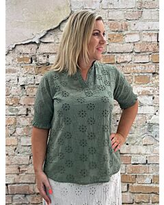 Ely  Blouse Broderie Demi