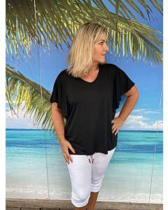 ItalyModa  T-Shirt Ruffle Mouw Sofia