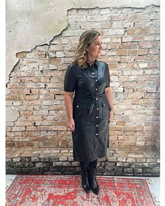 Rino Pelle  Pacey faux leather blouse dress