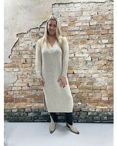 Vie V-hals jurk breisel Laureen