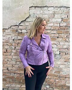 Cdlc  Biker jacket lila vintage