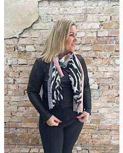 Sun  Sjaal zebra colour rand