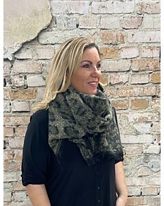 Sun  Sjaal Leopard Groen