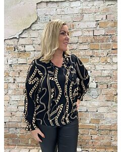 Ely blouse met strik Diane chain blouse