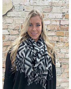 X soft sjaal grijs graffic